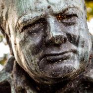 Winston Churchill in the park